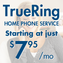 TrueRing Home Phone Service Starting at $7.95/month
